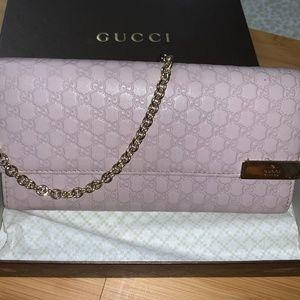 Gucci Micro Guccissima Chain Wallet